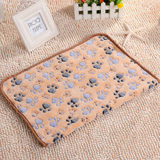 Pet Puppy Warm Pet Mat Paw Print Cat Dog Soft Fleece Blanket Bed Cushion 20x20cm