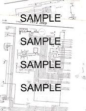 1973 JEEP WAGONEER J100 J2000 J3000 J4000 2WD & 4WD 73 WIRING CHART DIAGRAM