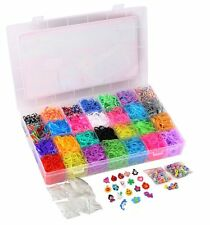 Rainbow Loom Rubber Bands Refill 10000pc Bracelet Kit Storage Case Organizer New