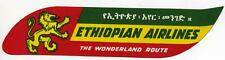 The Wonderland Route ~ETHIOPIAN AIRLINES~ Great Old Luggage label / decal
