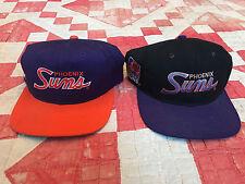 VTG 2 90's Sports Specialties Phoenix Suns Script Snapback Hat NBA Cap Rare