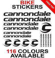 Cannondale decals stickers sheet (cycling, mtb, bmx, road, bike) die-cut