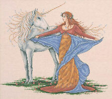 Cross Stitch Kit ~ Design Works Magical Unicorn and Lovely Maiden #DW2726