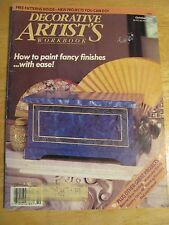 Decorative Artists Workbook OCT 1989 Good Preowned Condition FREE PATTERNS