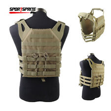 Airsoft Molle Plate Carrier JPC Vest Military Paintball Wargame Vest w 2 Plates