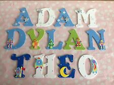 Children Personalised Wooden Letter Door Wall Sign Christmas Xmas Present Boys