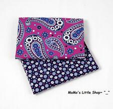 Beautiful Vera Bradley 100% Cotton Fabric (Boysenberry)——2 Matching Fat Quarters