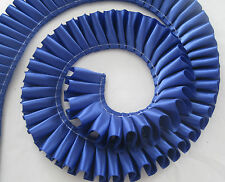 "1m - 25mm / 1"" Pleated Satin Ribbon. 40 COLOURS perfect for rosettes/crafts"