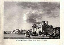 BRINDISI: Porto e Castello. SAINT-NON. Acquaforte su Rame. Stampa Antica. 1781