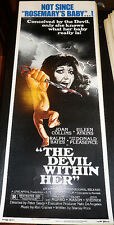 THE DEVIL WITHIN HER! '76 J.COLLINS HORROR CLASSIC ORIGINAL INSERT FILM POSTER!