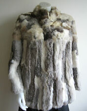 vtg RABBIT FUR jacket coat S M