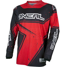 O'neal Element Long Sleeve Sleeved DH Downhill MTB Bike Jersey Black Red Medium