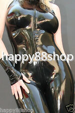 latex Rubber Gummi Ganzanzug Catsuit Zipper Tights Gloves Bodysuit Size XS-XXL