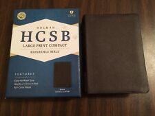 HCSB Large Print Compact Reference Bible - $39.99 Retail - Brown Cowhide Leather