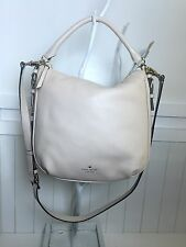 Kate Spade New York cobble hill small ella leather cream satchel 14k gold $298