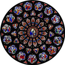 STAINED GLASS WINDOW ART - STATIC CLING  DECORATION - ARUNDEL ROSE WINDOW