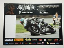 Michael Laverty Unsigned Relentless Suzuki Poster BSB.