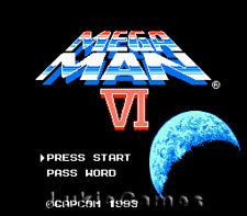 Mega Man VI 6 - Rare NES Nintendo Game Megaman
