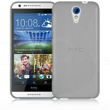CLEAR SLIM S-LINE GEL RUBBER CASE COVER SKIN FOR HTC DESIRE 620 MOBILE PHONE