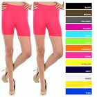New Womens Stretch Seamless Legging Shorts Spandex Workout Tight Bike Yoga Gym