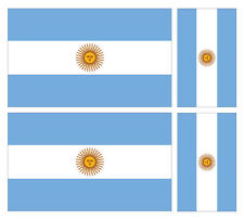 4 X ARGENTINE ARGENTINA FLAG VINYL CAR VAN IPAD LAPTOP STICKER