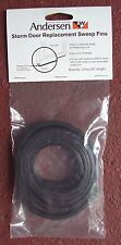 "ANDERSEN / EMCO Storm Door Replacement Sweep Fins / Set. 1/2"" T-sweep rubber NEW"