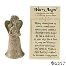 "Worry Angel with Prayer Card Get Well Prayer 3"" Resin Angel Figurine"