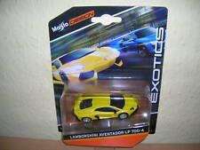 Maisto design Exotics LAMBORGHINI AVENTADOR LP 700-4 GIALLO YELLOW, 1:64