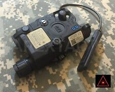 Airsoft DEVGRU PEQ LA5-C UHP Style LED Flashlight + RED / IR Laser Module Black