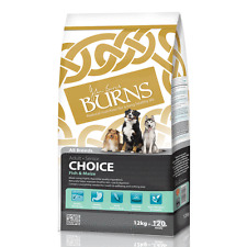 Burns Choice Adult & Senior Hypoallergenic Dry Dog Food Fish & Maize Rice 12kg