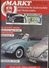 Markt für klassische Automobile 8/1989 VW Käfer Motorrrad Holzvergaser Horex