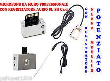 MICROFONO PROFESSIONALE REGISTRA AUDIO SPY MURO PARETE PORTA SOFFITTO PAVIMENTO