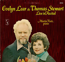 CLASSICAL LP EVELYN LEAR & THOMAS STEWART LIVE IN RECITAL MARTIN KATZ PIANO