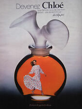 PUBLICITÉ DE PRESSE 1978 DEVENEZ CHLOÉ PARFUMS KARL LAGERFELD - ADVERTISING