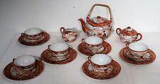 Vintage Japanese tea set Komplettes handgemaltes Tee Set Fudschijama Markierung