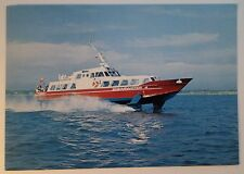 mv SHEARWATER 4 . Red Funnel Line Hydrofoil Pass Vehicle Freight Ferry Boat Ship