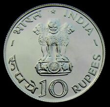 "REPUBLIC INDIA FOOD FOR ALL  10 RUPEE ""1970"" SILVER COIN"