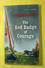 THE RED BADGE OF COURAGE STEPHEN CRANE CLASSIC 1962 AIRMONT CIVIL WAR PAPERBACK