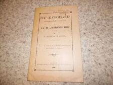 1907.Etat de mes services.mémoires  Kerguelen-Trémarec.Bourde de Rogerie