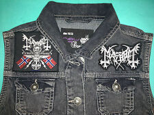 Mayhem Black Metal Girls Denim Cut-Off Waistcoat Vest Jacket 25 Years Of True BM