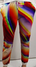 WOW! NEW Christopher Kane Multicolor printed jogger sweatpants $595 sm