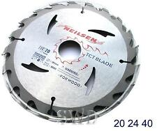 3PC set TCT circular saw blade 20 24 40 teeth 30mm bore reduction rings 185mm