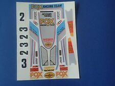 FOX  CUSTOM TAMIYA LOSI HPI VINTAGE PRECUT DECALS STICKERS 1/10th RC CARS