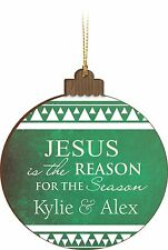 Personalized Laser Engraved Family Christmas Ornament, Jesus is the Reason