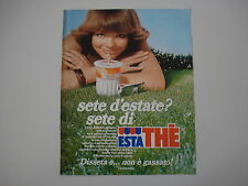 advertising Pubblicità 1984 FERRERO ESTATHE' ESTA THE'