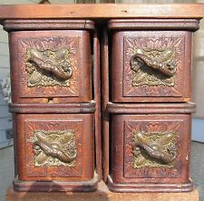 2 SETS Ornate ~ Wheeler & Wilson Antique Treadle Sewing Machine Cabinet Drawers
