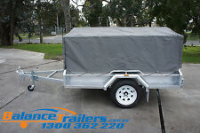 6X4 7X4 7X5 8X5 BOX TRAILER CAGE CANVAS COVER TARP