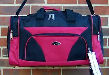 LARGE BLACK  WITH RED HOLDALL 50 CM  SPORTS BAG TRAVEL BAG GYM BAG SCHOOLBAG