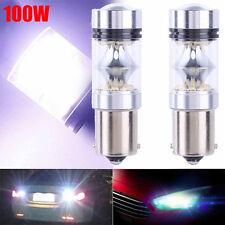 2Pcs 100W 1156 S25 P21W BA15S LED Car Backup Light Car Reverse Bulbs Lamps Kit