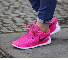 Nike Free 5.0 Running Shoes size Uk 4.5 Eur 38 100% Auth ( Brigh Pink) + Socks